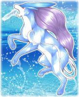 Suicune uses ICE BEAM - Trade by PoonieFox