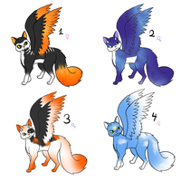 Winged Cat Adoptables 1 Cheap! --CLOSED-- by NegativeDiamond