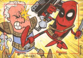 MGB: Cable vs. Deadpool by thecheckeredman