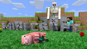 Minecraft wallpaper - Murdered pig [1920x1080] by DezTizzy