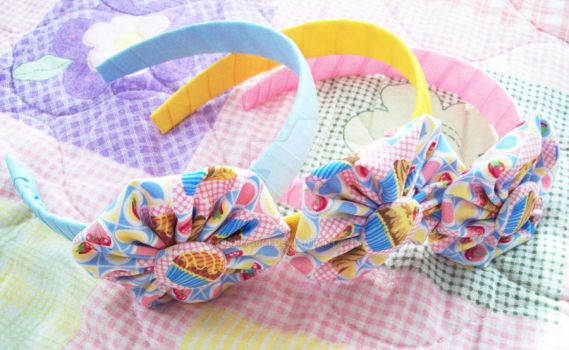 Colorful Cupcake Hairbands by Glory5641