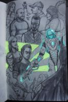 Mr. Freeze and Others by lieusum