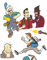 DRAWLINGS OF THE TF2 KIND by Buddha-Cat