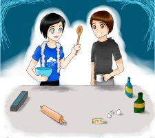 Phil and Dan: trying to make cookies by XOpalmtreesOX