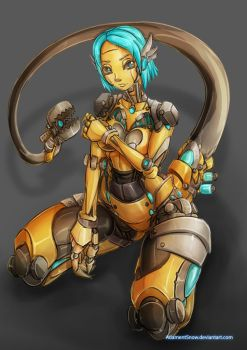 Fembot Steampunk Theme by AdamentSnow