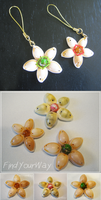 Kingdom Hearts Natural Cowrie Shell Wayfinders by hikarisama