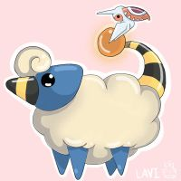Mareep and Masquerain by lavi-n