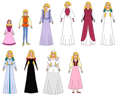 Princess Odette and all dresses by PPsantos1989