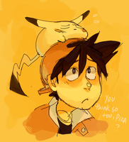 You think so too, pika? by YanYu