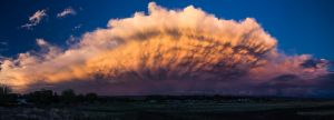 Thunderstorm Over the Laramie Range by wyorev