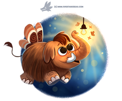 Daily Paint #1192. MamMoth by Cryptid-Creations