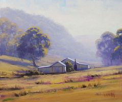 Foggy Morning Lithgow by artsaus