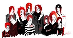 Draw ALL the Redheads! by DrownedinPerfection