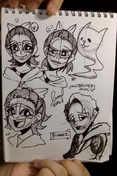Brush Pen Sketches! by RoxasKuroishi