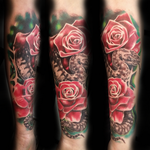 Roses and viper tattoo by tuomaskoivurinne