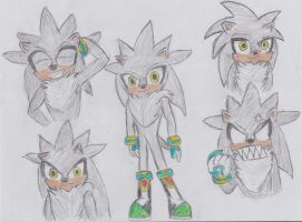 Silver The Hedgehog 2015 ver. by soldiersigma507
