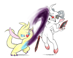 Battle for the Existing self by KonaMeerkatCafe