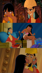 Kuzco and Chel Mashup by chocolatecherry