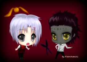 Tyki and Allen Chibis by PidonKatachi