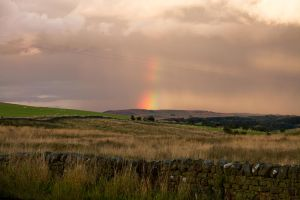 Rainbow over Northumbria by parallel-pam