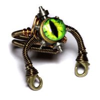 Steampunk Robot Atomic Green by CatherinetteRings