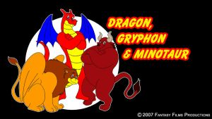 Dragon, Gryphon and Minotaur by BennytheBeast