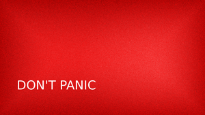 Don't Panic Wallpaper by raveldlopez