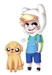 Finn and Jake by WTFmoments