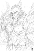 Deathwing-Human form rough by Jay--Zilla