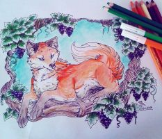 The Fox and the Grapes by IzaPug