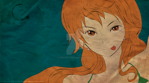 Nami Wallpepr Coffee Fanart by ddLuffy