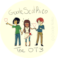 The OT3: GuateScotRico by LKeiko