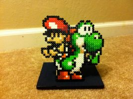 Yoshi and Baby Mario by Night-TAG