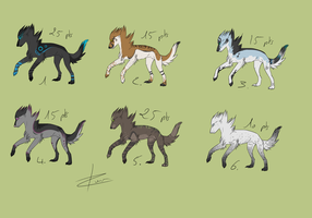 Wolves Adoptables points CLOSED by Eredhys