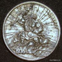 Hobo Nickel Zeus by shaun750
