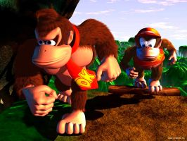 donkey kong and diddy kong by charmylover