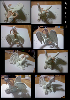 Clay angel dragon by abcccj