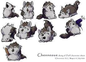 Army of Fluff - Chenneoue by chenneoue
