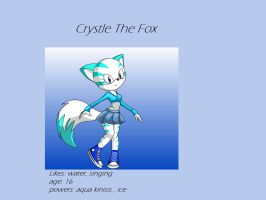 Crystle the fox by MaddiTheHedgieHog