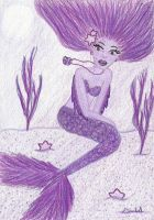 PURPLE MERMAID by S-Isabel