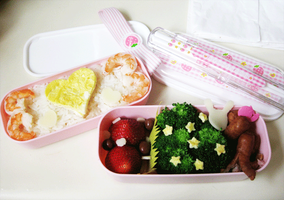 Heart Mixed Bento by KeoDear