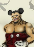 Mickey Mouse, Beefed Up and Angry. by D-RC