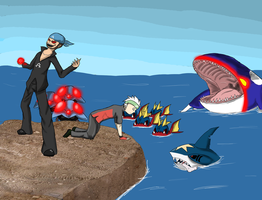 Creepy PoKeArT: Endless Sea by InsaneMonkey46