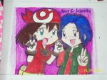 may and koichi of digimon by Deciime-Haruka