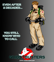 GhostBusters 20th Anniversary by BlueSerenity