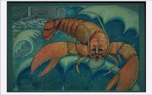 SandaClaws   color pencil illustration by PlayfulArt