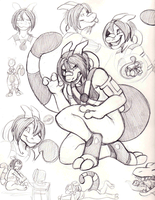 Cyrus Sketch Page by Sciggles by CyrusTarber