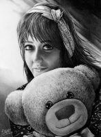 Woman with teddy bear by zetcom