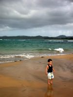 boy and beach by crazytmac