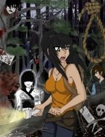 Aokigahara Realm of the Yokai by broken-with-roses